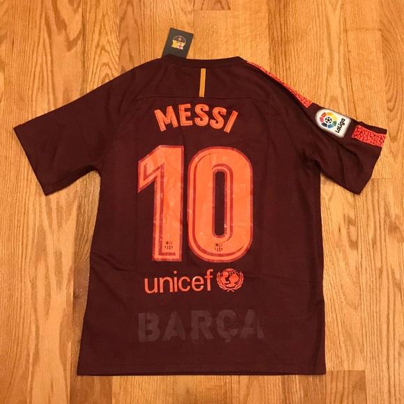 543bb1b4447 MESSI Barcelona 3rd Soccer Jersey 2017 18 maroon